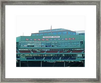 Emc Seats And Press Boxes Framed Print