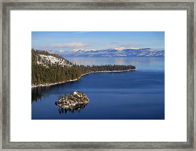 Emerald Bay At Lake Tahoe Framed Print by Donna Kennedy