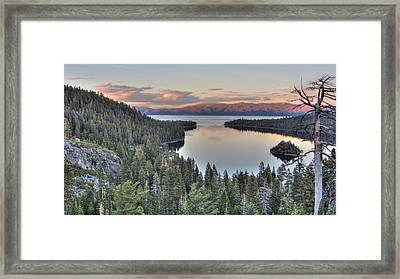 Emerald Bay Colors Framed Print