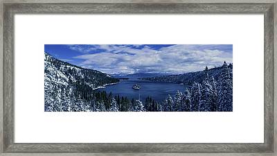 Emerald Bay First Snow Framed Print