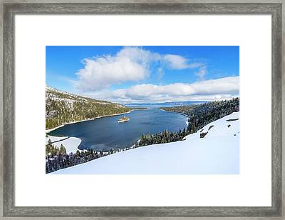 Framed Print featuring the photograph Emerald Bay Slopes by Brad Scott