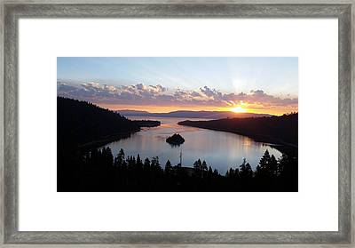 Framed Print featuring the photograph Emerald Bay Sunrise by Carol Duarte
