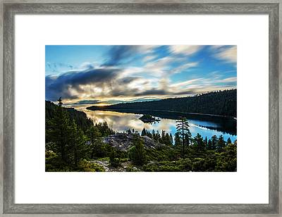 Framed Print featuring the photograph Emerald Bay Sunrise Lake Tahoe by Brad Scott