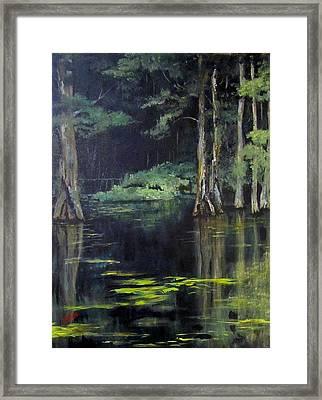 Emerald Bayou Framed Print
