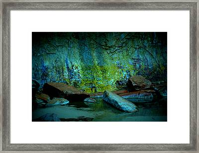 Emerald Cave Framed Print