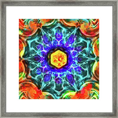 Emerald Circle Mandala Framed Print by Yulia Kazansky