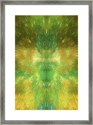 Emerald City - Abstract  Framed Print by SharaLee Art