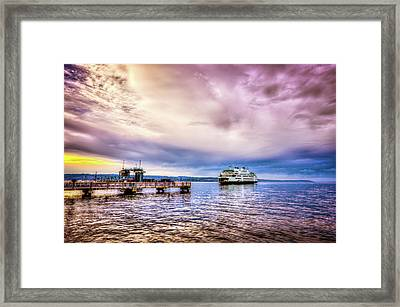 Emerald City Ferry Framed Print by Spencer McDonald