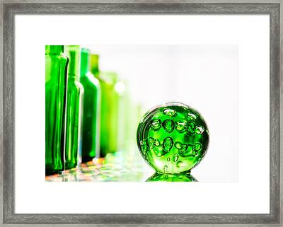 Emerald City Iv Framed Print by Jon Woodhams