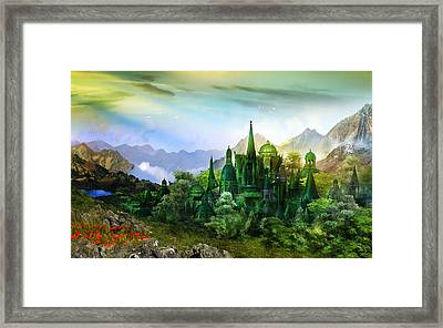 Emerald City Framed Print by Mary Hood