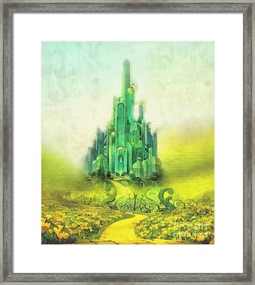 Emerald City Framed Print by Mo T
