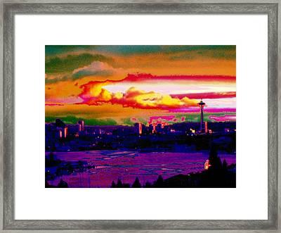 Emerald City Sunset Framed Print by Tim Allen
