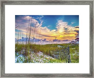 Emerald Coast Sunset Framed Print