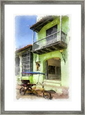 Emerald Entry Framed Print