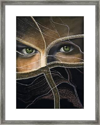 Emerald Eyes Framed Print