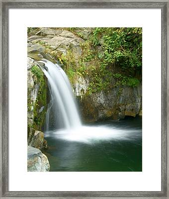 Emerald Falls Framed Print by Marty Koch