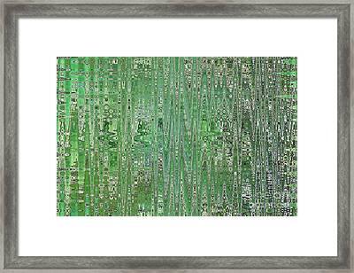 Emerald Green - Abstract Art Framed Print by Carol Groenen