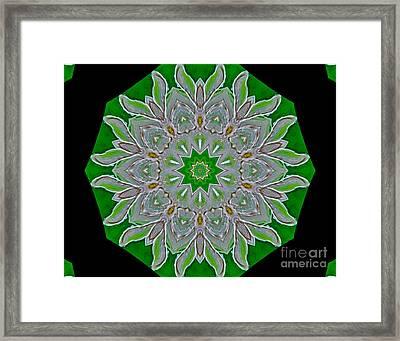 Emerald Green Framed Print by Marsha Heiken