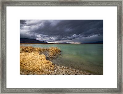 Emerald Green Storm Framed Print