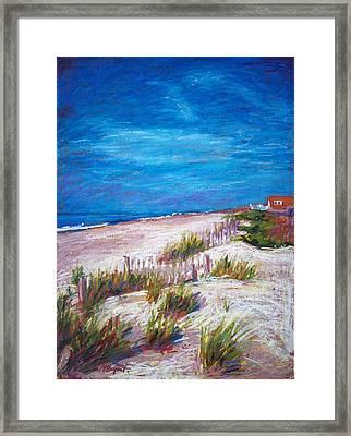 Emerald Isle Dunes Framed Print by Bethany Bryant