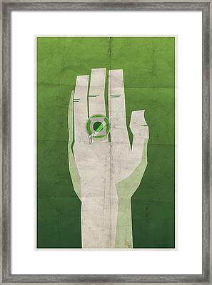 Emerald Knight Framed Print by Michael Myers