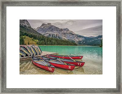 Framed Print featuring the photograph Emerald Lake 2009 01 by Jim Dollar