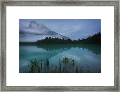 Emerald Lake Before Sunrise Framed Print