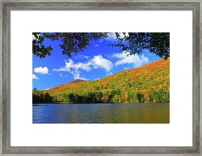Emerald Lake In Autumn Framed Print by John Burk