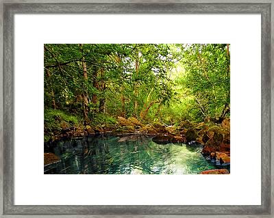 Emerald Lake Framed Print by Svetlana Sewell
