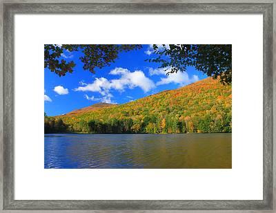 Emerald Lake Vermont In Autumn Framed Print by John Burk