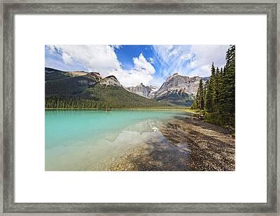 Emerald Lake Vista Framed Print by George Oze