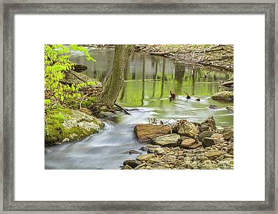Emerald Liquid Glass Framed Print by Angelo Marcialis