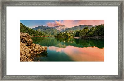 Emerald Mirror Framed Print