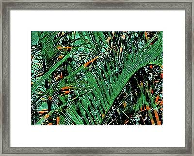 Framed Print featuring the digital art Emerald Palms by Mindy Newman
