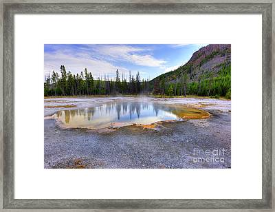 Emerald Pool Framed Print by Juli Scalzi