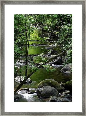 Emerald Pools Framed Print by Jim Nelson