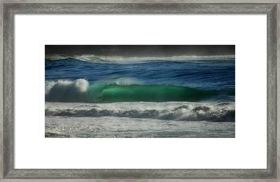 Emerald Sea Framed Print by Donna Blackhall