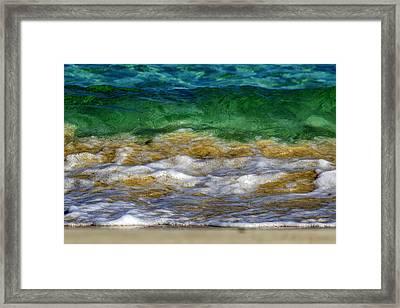 Emerald Sea Framed Print