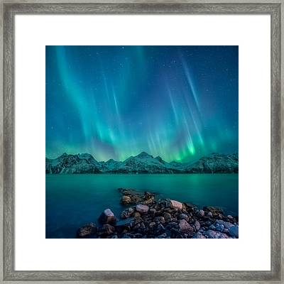 Emerald Sky Framed Print by Tor-Ivar Naess