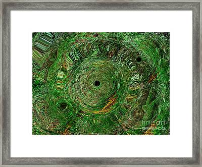 Framed Print featuring the photograph Emerald Swirls by Kathie Chicoine