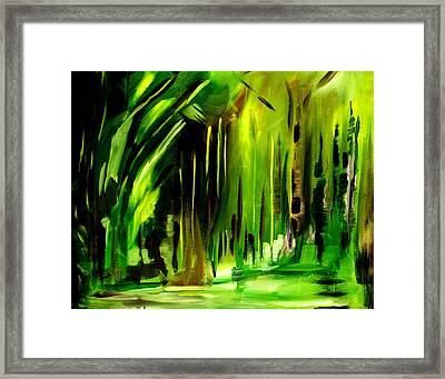 Emerald Vision Framed Print by Ellen Seymour