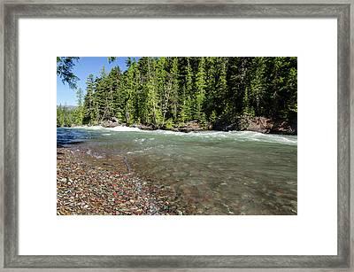 Emerald Waters Flow Framed Print