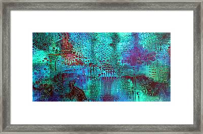 Emerald World Framed Print