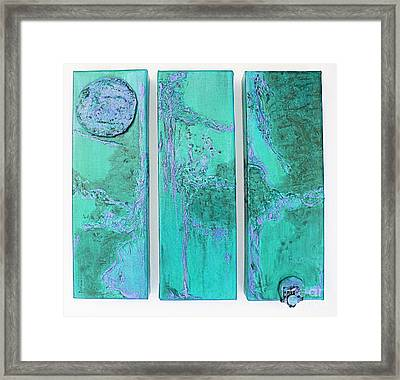 Framed Print featuring the painting Emergence by Diana Bursztein
