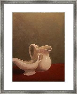 Emergence Of Ceramic Framed Print by Krishnamurthy S