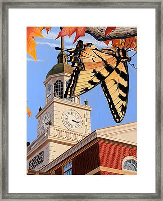Emergence Of The Butterfly Framed Print