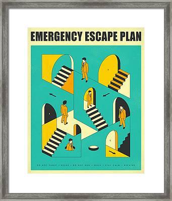 Emergency Escape Plan 1 Framed Print