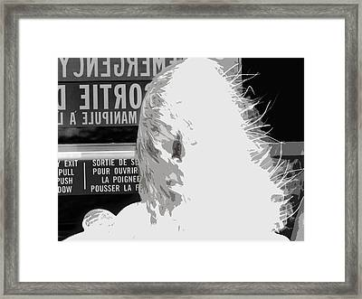 Emergency Exit Framed Print by Erik Krieg