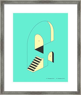 Emergency Exits 16 Framed Print