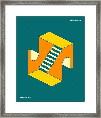 Emergency Exits 17 Framed Print by Jazzberry Blue